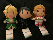 Sword Art Online Plush Keychain Set of 3 Kirito Asuna Leafa