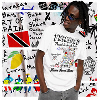Trinidad and Tobago Map T-Shirt West Indies Trini Carnival Tourist Vacation Tee
