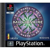 WHO WANTS TO BE A MILLIONAIRE SONY PLAYSTATION 1 GAME ⓤⓚ ⓢⓔⓛⓛⓔⓡ Ŧครt ק๏รt