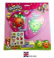 4Pc anotador y Hojas Pegatina Shopkins Bff conjunto niños niñas cumpleaños regalo de chicas Reino Unido