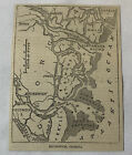 1861 newspaper map ~ BRUNSWICK, GEORGIA