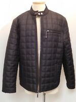 MENS JUICY CUTURE BLACK QUILTED INSULATED JACKET COAT POCKETS EUC