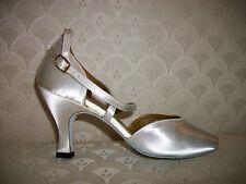 Ballroom Dance Shoe Capezio 4 M 5 W White Satin BR09S Cross Strap New In Box