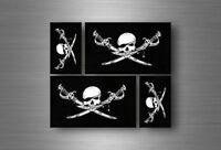 4x sticker flag car motorcycle decal bumper vinyl adhesive pirate bethren