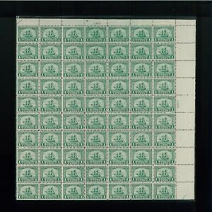 1920 United States Postage Stamp #548 Plate No. 12419 Mint Full Sheet