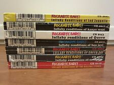 ROCKABYE BABY LULLABY RENDITIONS (7 CDs) Coldplay, Led Zeppelin, Rolling Stones