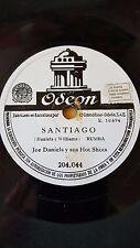 JAZZ 78 rpm RECORD Odeon JOE DANIELS & SUS HOT SHOTS Santiago / La Caravana de..
