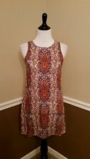 NWT Modcloth Dress Past But Not Least XS S Rust Brown Paisley Shift Sunny Girl