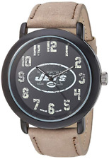 New York Jets Game Time Men's 'Throwback' Quartz Metal and Leather Watch (NEW)