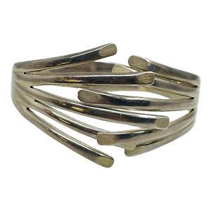 Los Ballesteros Vintage Sterling Silver Spring Hinge Bracelet Mexico