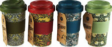 Set Of 4 Bamboo Eco Friendly Travel Mugs - William Morris inspired Designs