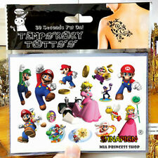 Super Mario Bros. Luigi Temporary Tattoo Sheet Children Kids Party Bag Fi