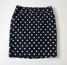 241c9efab Merona Navy Blue Polka Dot Lined Pencil Skirt Size 10