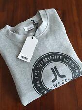 WESC VARSITY CREW GREY MELANGE SWEAT-SHIRT (XL) $ 115