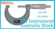 Genuine New Mitutoyo 103-138 Outside Micrometer 25-50mm Australia Stock