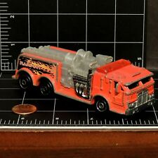 """Hot Wheels 1999 Haulers Flame Out Big Red Fire Engine die cast Truck 4.75+"""" long"""