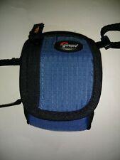 Lowepro Camera Pouch BlueBlack Adjustable Strap Ridge 10 Great Condition Used