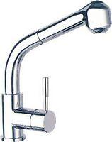 rubinetto Gemini per lavello miscelatore cromato canna alta + doccetta