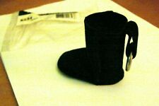 AUTHENTIC UGG BLACK BOOT KEY CHAIN NIP SUEDE & WOOL RARE & HARD 2 FIND!! 2 CUTE!