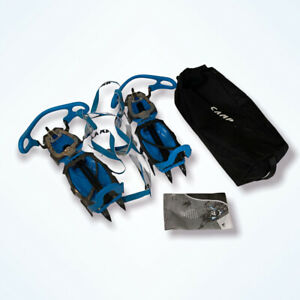 CAMP USA Stalker Universal Crampons Blue Universal Ice Mountaineering Carry Bag