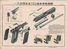 Color Training POSTER Chinese TT33 Tokarev 7.62x25 Pistol Handgun #213 BUY NOW!