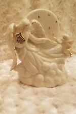Porcelain Angel & Cherub Heavenly Clouds Bedside Night Light Lamp