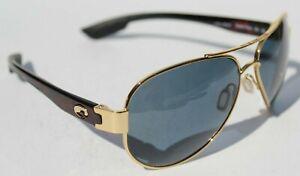COSTA DEL MAR South Point POLARIZED Sunglasses Gold/Gray 580P Aviator NEW