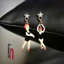 Boucles d`Oreilles Clous Email Danseuse étoile Mignon Retro Original Cadeau EE 4
