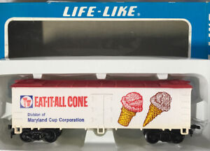 Life-Like HO Scale ~ Eat-It-All Ice Cream Cones Reefer Car ~ NEW IN BOX