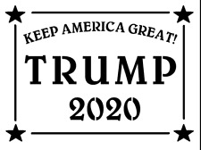 Stencil TRUMP 'KEEP AMERICA GREAT' Template Signs Paint 2 Sizes To Choose From
