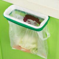 Hanging Plastic Bracket Door Trash Holder Kitchen Garbage Bin Bag Storage Rack