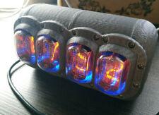 Nixie Tube Desk Clock Soviet tubes IN-12 Custom made with BLUE backlight NEW