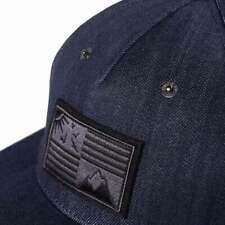 New Men Diesel Cistarres Hat Blue Denim Snapback Button Cap 58 CM 0TARG NWT