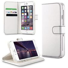 "iPhone 6 6S 4.7"" PU Leather Card Holder Flip Stand Wallet Case White Great Buy"