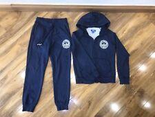 Adidas Womans Navy Blue Tracksuit Jacket Joggers Set Size 12