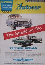 Autocar 23/9/1960 featuring Morris Mini Traveller, Buick, Climax Herald Coupe