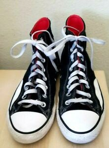CONS Converse  Black Suede RED ACCENT Athletic Shoes Men ~ 8