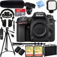 Nikon D7500 20.9MP DX-Format 4K UHD DSLR Camera Body w/ Tascam Pro Video Bundle