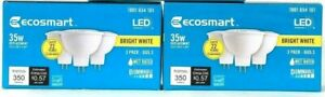 (2 Boxes) Ecosmart Bright White LED 1001 654 101 35w Replacement 3 Count Bulbs
