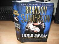 Brandon Sanderson Arcanum Unbounded Signed Lined Dated 1st Cosmere short stories