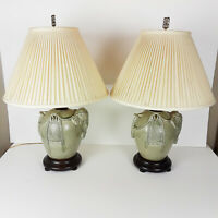 Frederick Cooper Elephant Lamps Table Pair 8953