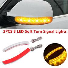 2x Yellow Car Side Mirror LED Amber Indicator Lamp Soft Turn Signal Light Strips