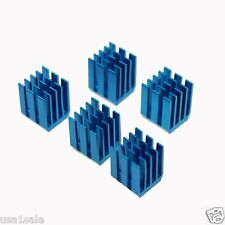 Lot 40  pcs 9x9x12mm adhesive Aluminum blue Heat Sink For Memory GPU Chip IC PI