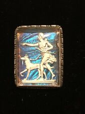 Antique TM & Co Sterling Silver Butterfly Wing Cupid Psyche Brooch