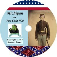 Michigan Civil War Books -  History & Genealogy - 34 Books on DVD