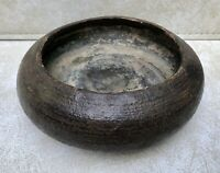 Mid-Century Art Studio Pottery Bowl,Earth Tones,Heavy 2 Lbs 13 Oz,Primitive Look