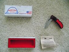 Hard Hat Knives POCKET KNIFE MADE IN USA 310-SER-RD-LKBK