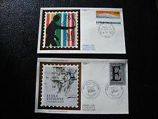 FRANCE - 2 envelopes 1st day 1989 (school estienne-blind) (cy21) french