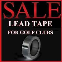 """GOLF CLUB Lead Tape 100"""" X 1/2"""" ADD WEIGHT to Irons Driver Hybrid Wedge Putter"""
