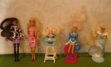 "POLLY POCKET 4-5"" size BARBIE 1990s McDonalds Dolls Lot Kelly Western Stampin"